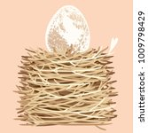 illustration of an egg in a... | Shutterstock .eps vector #1009798429