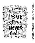 a true love story never ends... | Shutterstock .eps vector #1009799908