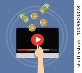 video monetization concept.... | Shutterstock .eps vector #1009800328