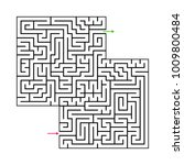 abstract maze labyrinth with...   Shutterstock .eps vector #1009800484