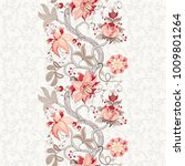 seamless floral background.... | Shutterstock . vector #1009801264