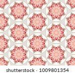 seamless floral background with ... | Shutterstock . vector #1009801354