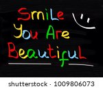 smile you are beautiful  | Shutterstock . vector #1009806073