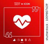 heart medical icon | Shutterstock .eps vector #1009807639
