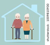 elderly and home icon  nursing... | Shutterstock .eps vector #1009810930