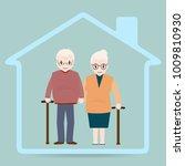 elderly and home icon  nursing... | Shutterstock .eps vector #1009810930