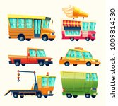 transport vehicles vector... | Shutterstock .eps vector #1009814530