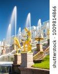 peterhof  russia   grand... | Shutterstock . vector #1009814866