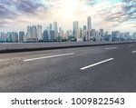 urban road square and skyline... | Shutterstock . vector #1009822543