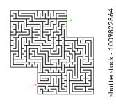 abstract maze labyrinth with...   Shutterstock .eps vector #1009822864