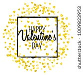 valentines day card with gold... | Shutterstock .eps vector #1009823953
