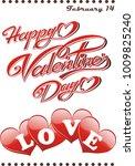 postcard happy valentine s day...   Shutterstock .eps vector #1009825240