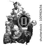 luxurious victorian initials...   Shutterstock . vector #100982656