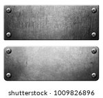 metal plates set with rivets... | Shutterstock . vector #1009826896