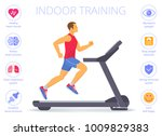 strong caucasian man is running ... | Shutterstock .eps vector #1009829383