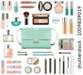 vector makeup cosmetics with... | Shutterstock .eps vector #1009839019
