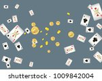 casino playing cards and money... | Shutterstock .eps vector #1009842004