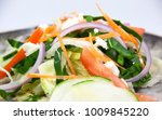 fresh green salad  | Shutterstock . vector #1009845220