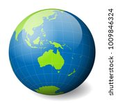 earth globe with green world... | Shutterstock .eps vector #1009846324