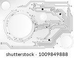 vector circuit board pattern... | Shutterstock .eps vector #1009849888