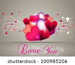 abstract greeting  gift card or ... | Shutterstock .eps vector #100985206