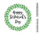 happy saint patricks day in... | Shutterstock .eps vector #1009858864