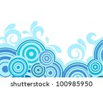 Abstract Background With Water...