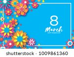 8 march. happy women s day....   Shutterstock .eps vector #1009861360