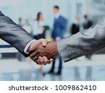 handshake isolated on business... | Shutterstock . vector #1009862410