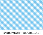 Gingham Sky Blue And White...