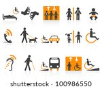 accessibility icons set | Shutterstock .eps vector #100986550