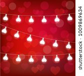 realistic st. valentine's... | Shutterstock .eps vector #1009869634