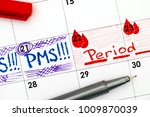 reminder pms and period in... | Shutterstock . vector #1009870039
