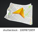 city map with marker pin....