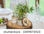 wedding decorations for table... | Shutterstock . vector #1009873423