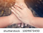 exposure of hands were a... | Shutterstock . vector #1009873450