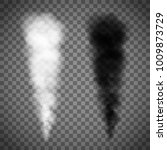 set of white and black smoke on ...   Shutterstock .eps vector #1009873729