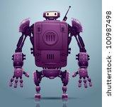 vector robot 3 | Shutterstock .eps vector #100987498