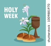 holy week catholic tradition   Shutterstock .eps vector #1009881970