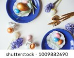 easter holiday greeting card ... | Shutterstock . vector #1009882690