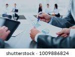 businessman holding digital... | Shutterstock . vector #1009886824