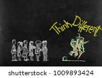 think different concept on...   Shutterstock . vector #1009893424