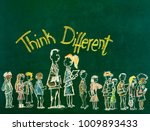 think different concept on... | Shutterstock . vector #1009893433