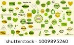 organic food  farm fresh and... | Shutterstock .eps vector #1009895260