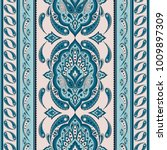 floral indian paisley pattern...   Shutterstock .eps vector #1009897309
