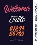 welcome. table. elegant hand... | Shutterstock .eps vector #1009899268