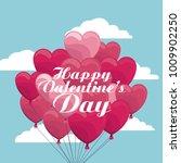 happy valentines day | Shutterstock .eps vector #1009902250