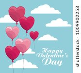 happy valentines day | Shutterstock .eps vector #1009902253
