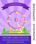 recreational park  promo poster ... | Shutterstock .eps vector #1009903348