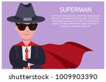 superman poster with man and... | Shutterstock .eps vector #1009903390